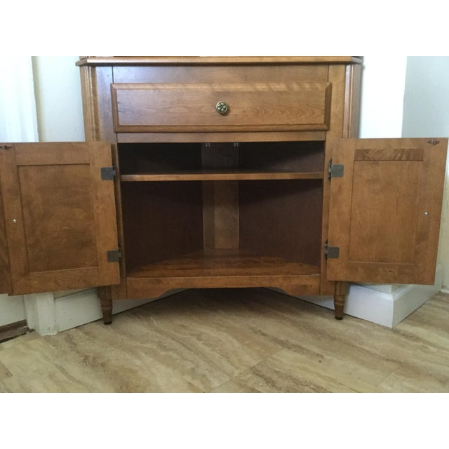 Corner Hutch/Buffet/China Cabinet - Handcrafted, Solid Birch - Image 5 of 10