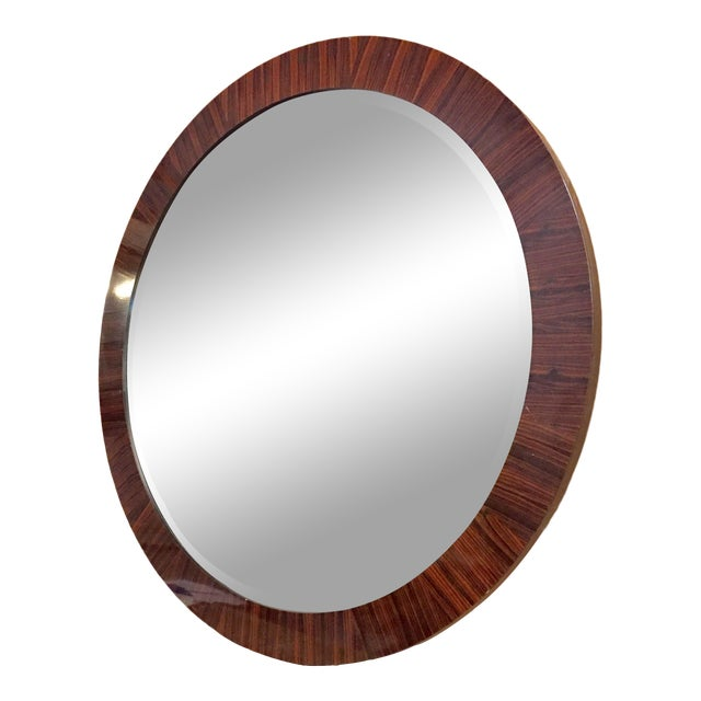 Century Round Wall Mirror For Sale