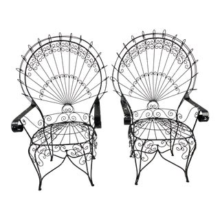 Mid-Century John Salterini CastIron Peacock Chairs - a Pair For Sale