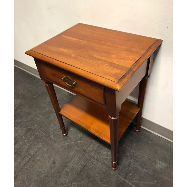 1960s Solid Cherry Chippendale Nightstand by Cherry Hill Collection For Sale - Image 5 of 12