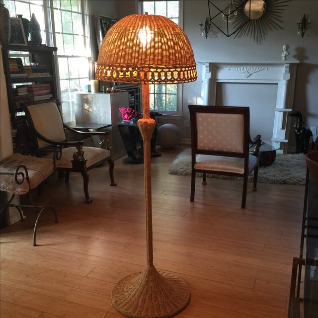 Bohemian Wicker Floor Lamp Chairish