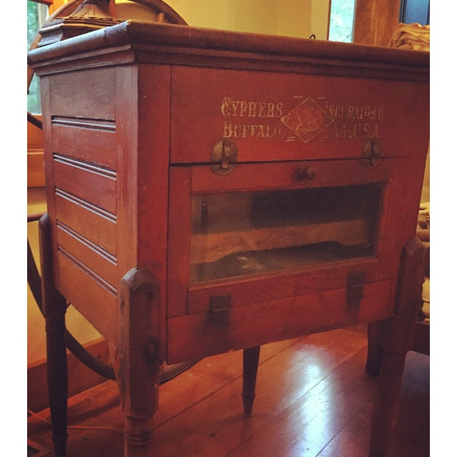 Antique Cypher Egg Incubator Side Table - Image 3 of 3