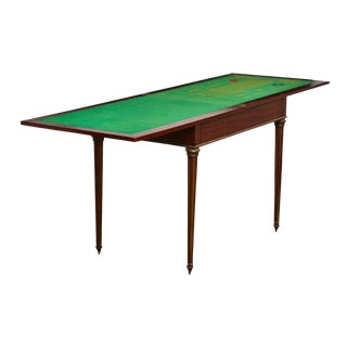 French Regency Neoclassical Flip-Top Roulette Game Table