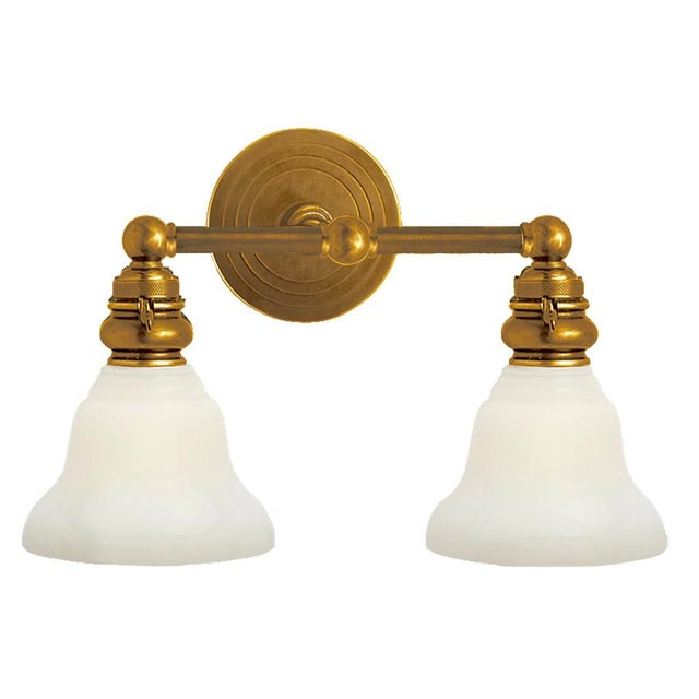 2010s Visual Comfort Brass Light Fixture For Sale - Image 5 of 5