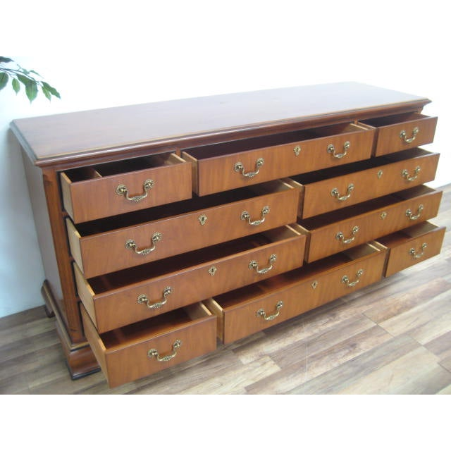 Queen Anne Style 10-Drawer Dresser by Drexel - Image 9 of 11