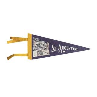 Vintage St. Augustine Fla. Felt Flag Pennant
