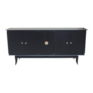 Beautiful Vintage French Art Deco Ebonized Sideboard / Credenza 1940s