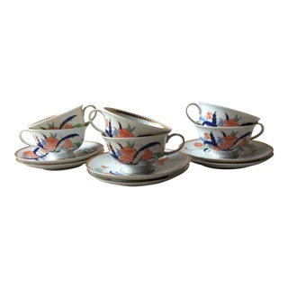 Rosenthal Classic Rose Imari Pattern Cups/Saucers - Service for 6 For Sale