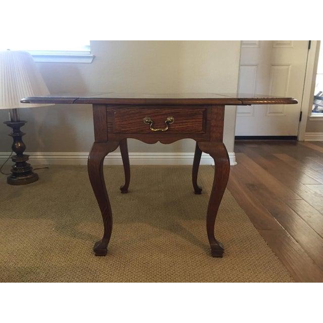 Ethan Allen Canterbury Oak Drop Leaf Side Table Chairish