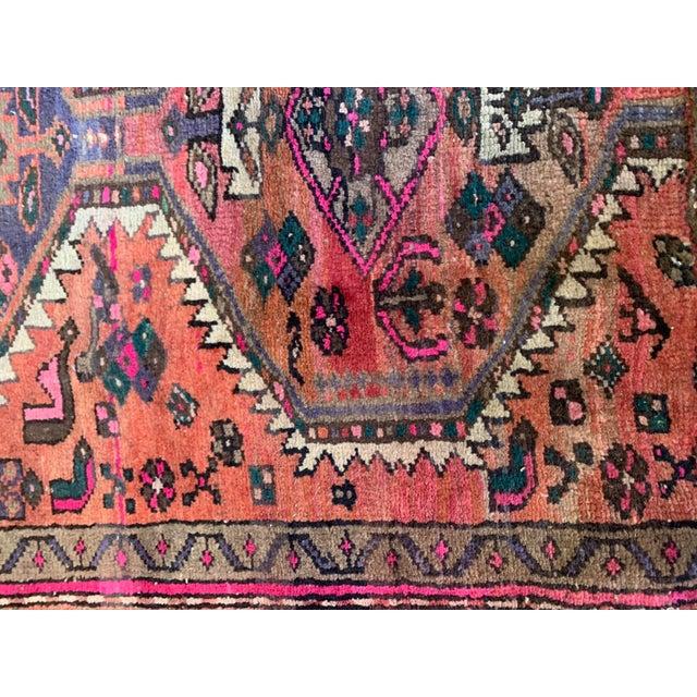 1930s Vintage Persian Serapi Heriz Area Rug- 3′3″ × 3′8″ For Sale - Image 5 of 8