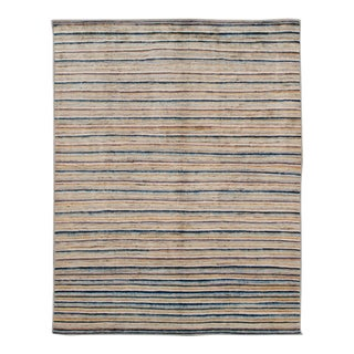 Modern Colorful Moroccan-Style Room Size Wool Rug For Sale