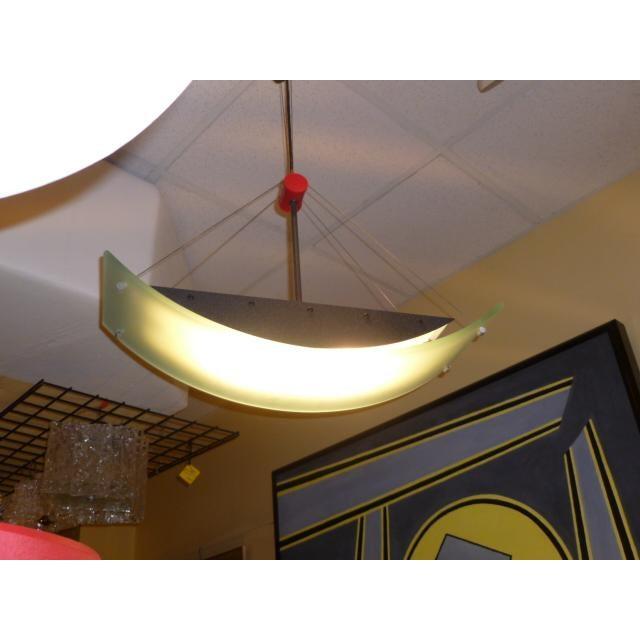 Fine Robert Sonneman Memphis Inspired Suspension Chandelier For Sale - Image 11 of 11