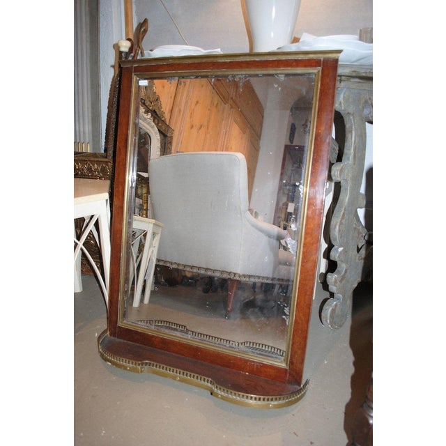 19th Century Mahogany Mirror with Shelf For Sale In Boston - Image 6 of 8
