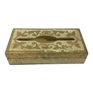 Italian Florentine Tissue Box For Sale