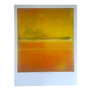 "Mark Rothko Vintage Lithograph Print Abstract Expressionist Poster "" No.14 / No.10 "" 1953 For Sale"