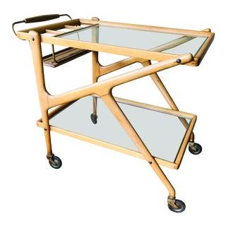 1950s Italian Wooden Bar Cart For Sale