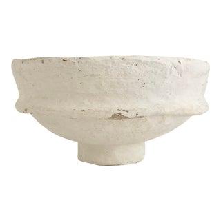Boho Chic Handcrafted Papier-Mâché Bowl For Sale
