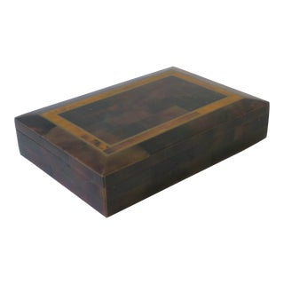 Modern Marble Stone and Brass Jewelry Box For Sale