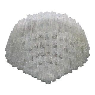 Toni Zuccheri for Venini Tronchi Murano Glass Chandelier Ceiling For Sale