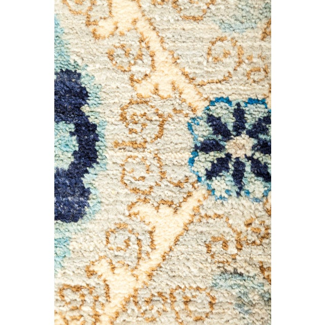 "Boho Chic New Hand-Knotted Suzani Rug - 8'1"" X 10'6"" For Sale - Image 3 of 3"