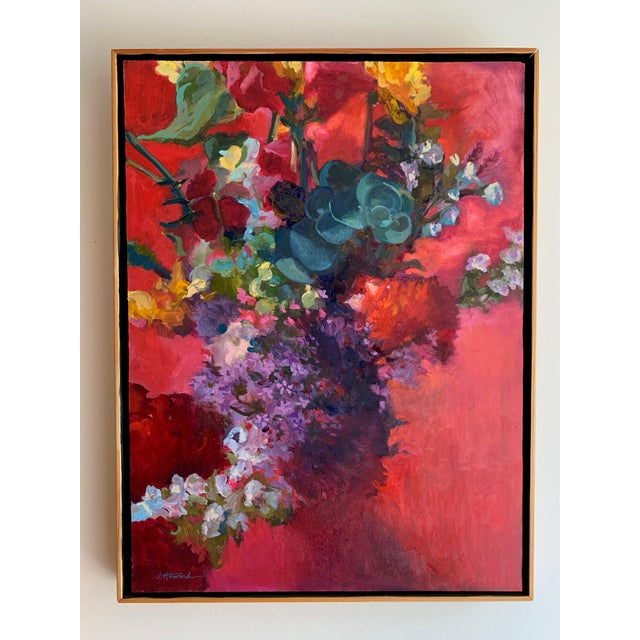 Pink Bouquet Eucalyptus Painting For Sale In New York - Image 6 of 8