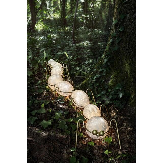 Metal Caterpillar, Floor Lamp Sculpture, Vincent Darré and Ludovic Clément d'Armont For Sale - Image 7 of 8