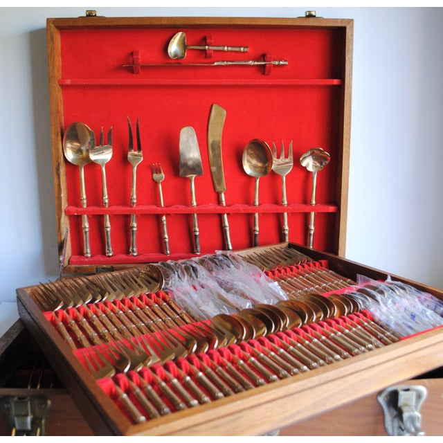 Mid-Century Bronze Flatware Set, 142 Pieces (Service for 12) - Image 4 of 8