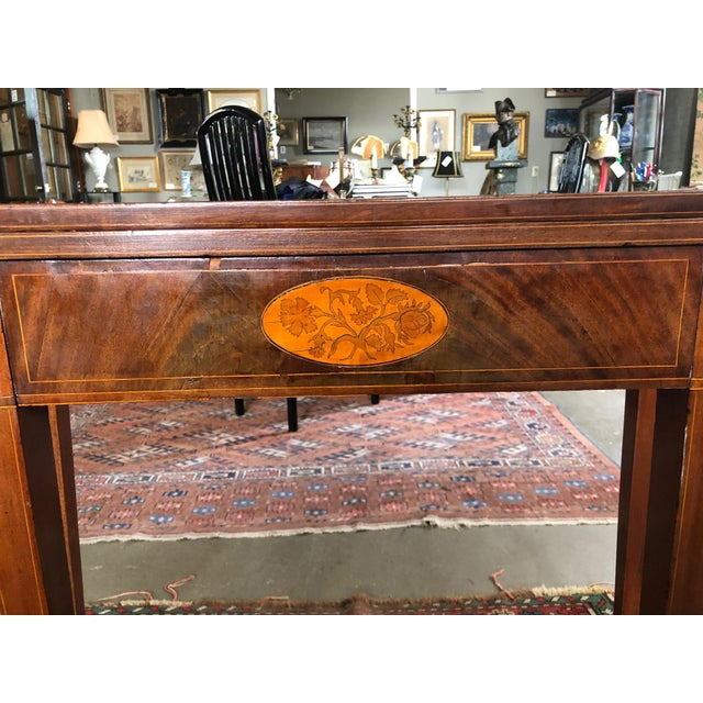 1780 Hepplewhite Inlayed Mahogany Game Table For Sale - Image 4 of 13