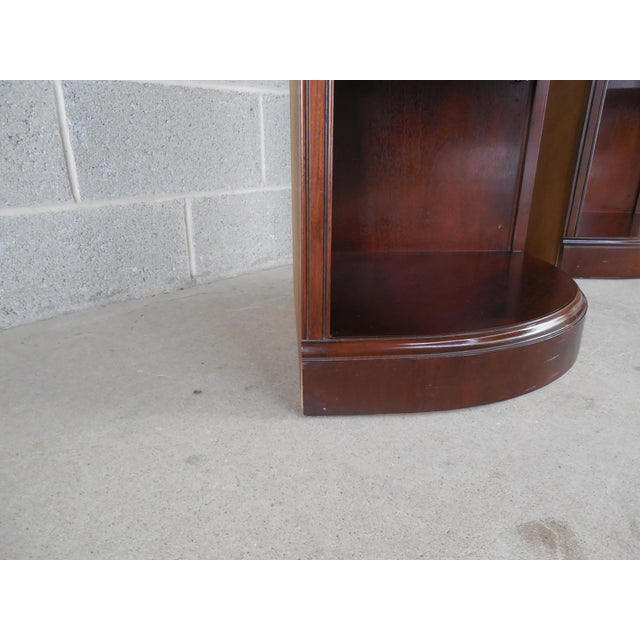 Drexel Chippendale Mahogany Lighted Corner Cabinets - A Pair - Image 6 of 10