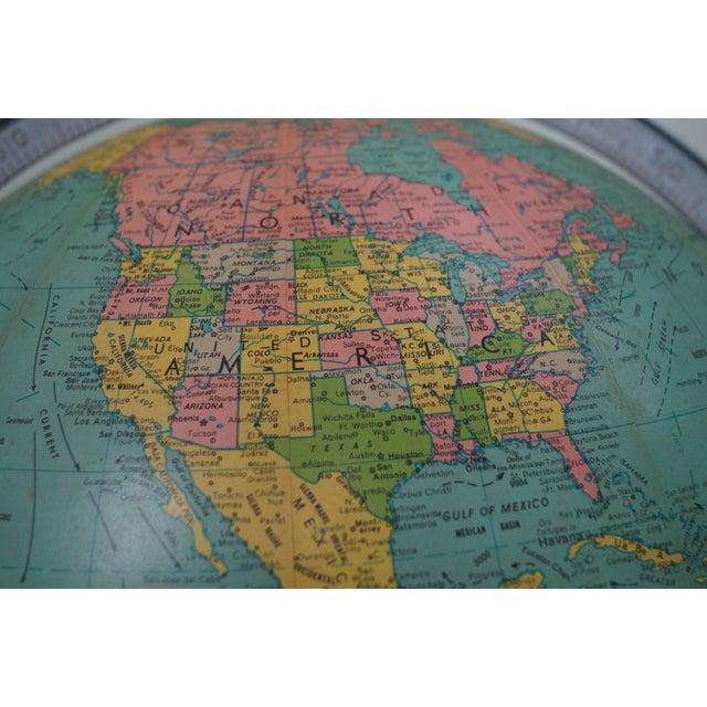 Jens Risom Hans Knoll Mid-Century Wood Frame Globe For Sale - Image 9 of 10