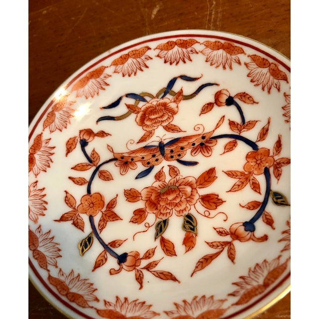 Mid 20th Century Mid-20th Century Ritz Carlton Imari Coral Butterfly and Gold Accented Bowl For Sale - Image 5 of 8