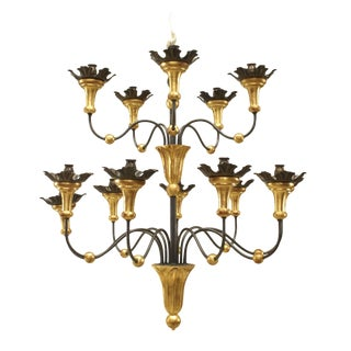 20th Century Italian Neoclassic Tuscany Style Chandelier For Sale