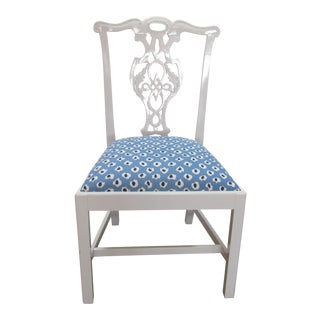 1990s Contemporary Baker White Lacquered Chair For Sale