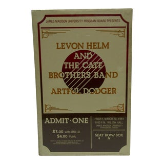 """Vintage """"Levon Helm and the Cate Brothers Band"""" Concert Poster For Sale"""