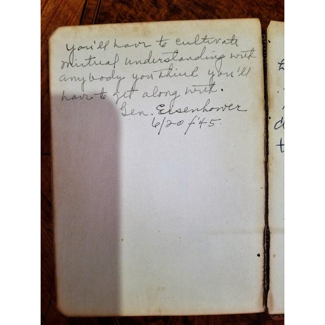Pencil Eisenhower Quotes From June 1945 For Sale - Image 7 of 13