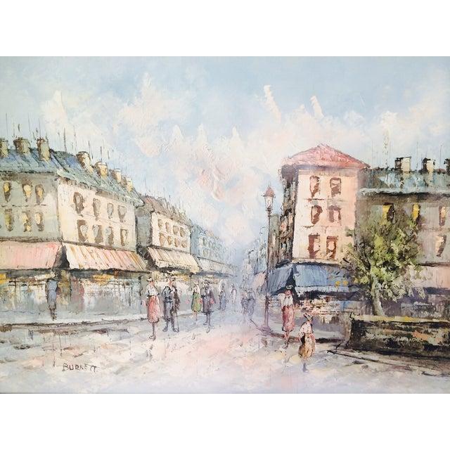 Caroline Burnett Street of Paris Oil Painting - Image 3 of 7