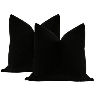 "22"" Caviar Mohair Pillows - a Pair For Sale"