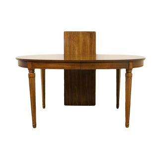 "20th Century Neoclassical Bernhardt Furniture Italian 78"" Dining Table For Sale"