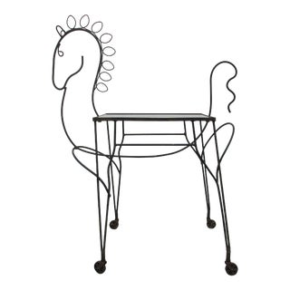 Frederick Weinberg Horse or Pony Rolling Bar Cart For Sale