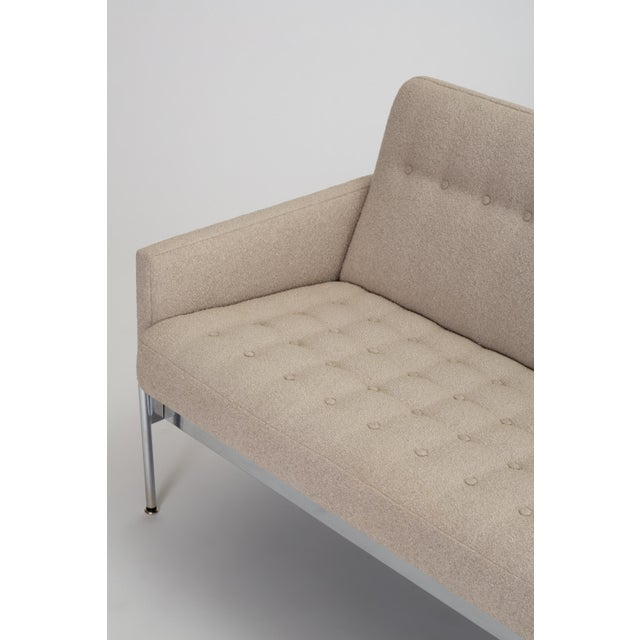 Mid-Century Modern Tufted Bouclé Sofa With Chrome Base For Sale - Image 10 of 13