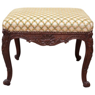 French Regence Carved Stool For Sale
