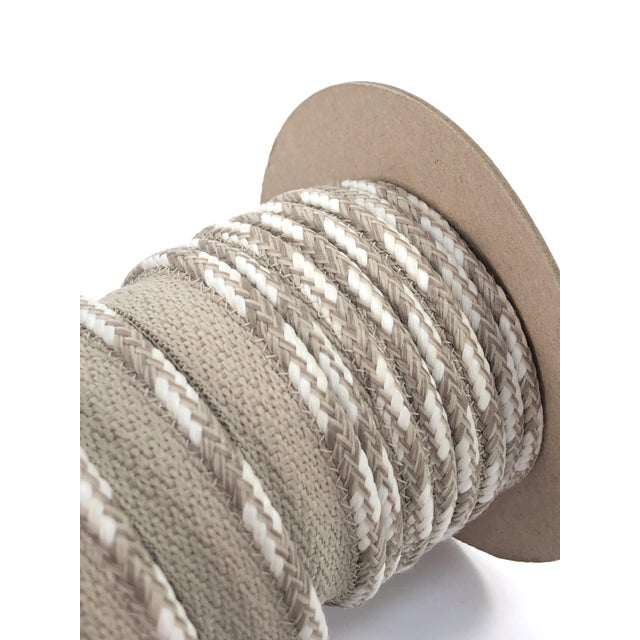 """Braided 1/4"""" Indoor-Outdoor Cord in Sand-White For Sale - Image 9 of 10"""