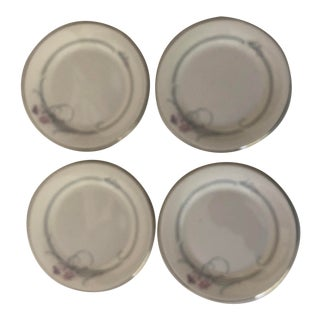 Vintage Royal Doulton Allegro Pattern Bone China Bread / Dessert Plates S/4 For Sale