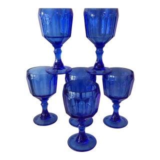 Cobalt Blue Goblets - Set of 6 For Sale