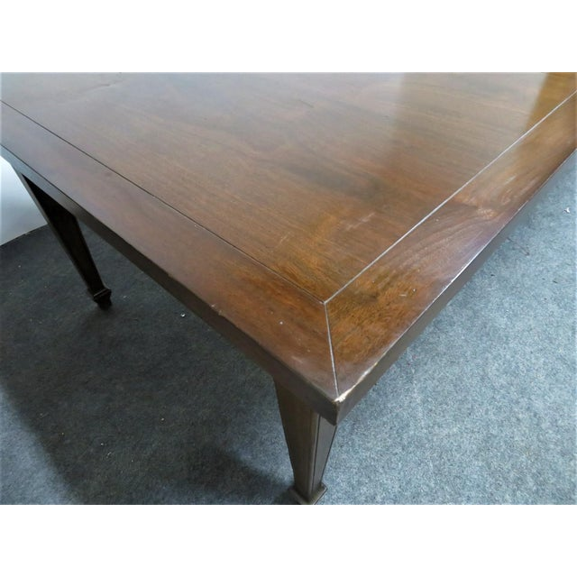 Wood Italian Style Walnut Dining Table For Sale - Image 7 of 9