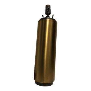 Brass Cylinder Table Lamp For Sale