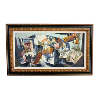 Mid Century Modern Music Painting by Jean Amiot