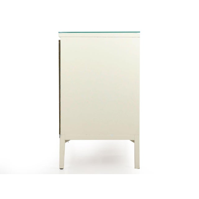 Modern Vintage Modern White Lacquer Cabinet Credenza With Eight Drawers Circa 1980s For Sale - Image 3 of 13
