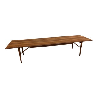 Winchendon Solid Walnut Mid-Century Modern Long Coffee Table For Sale