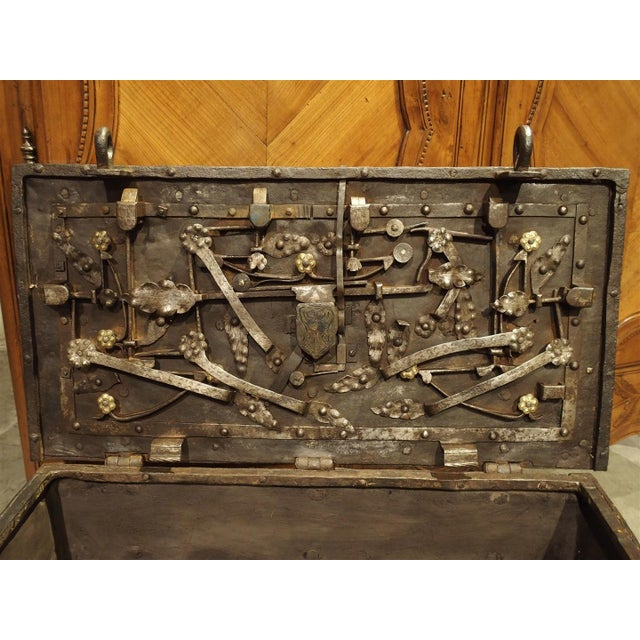 17th Century Iron Strongbox from a Ship For Sale - Image 11 of 11